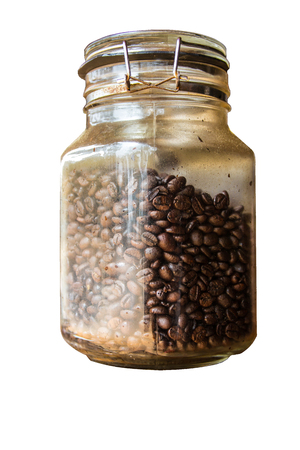 Jar with coffee beans in a jar Stock fotó