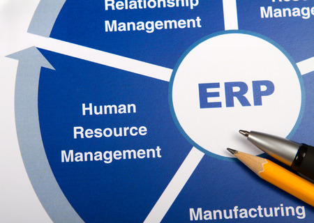 human resource management: ERP chart Stock Photo