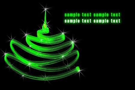 sample wish with Christmas tree photo