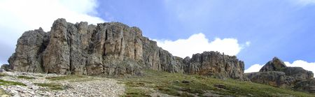 italien: panorama view in Italien Dolomites