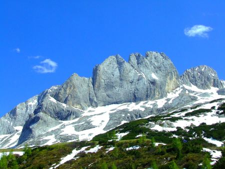 italien: nice view in Dolomites mountains