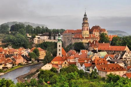 panorama of Cesky Krumlov (unesco) photo