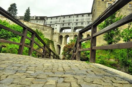 stone bridge near castle Krumlov photo