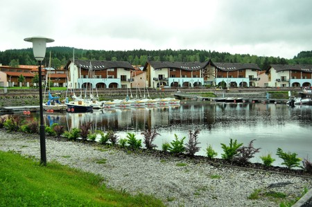 ships port in Lipno village