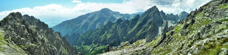 nice panorama view of hight mountains