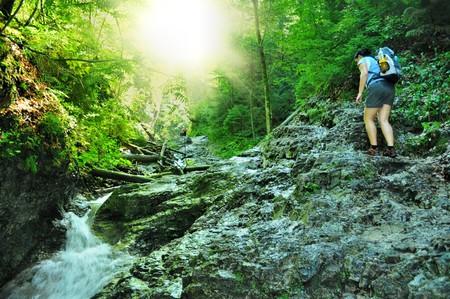 nice path through slovak paradise Standard-Bild