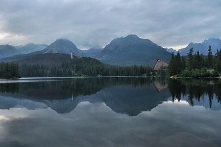 nice lake in hight mountains photo