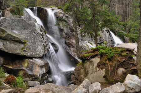 nice waterfall in Hight Tatras photo
