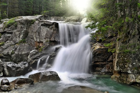 nice waterfall in Hight Tatras
