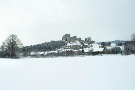 rabi: old ruin of historic castle Stock Photo