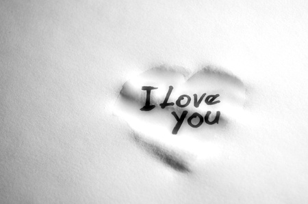 love sign on damp paper Stock Photo - 8798115
