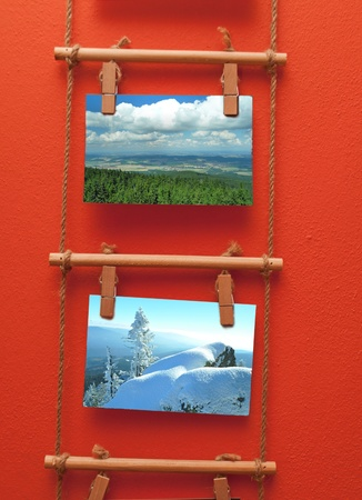 pictures of landscapes on wall photo