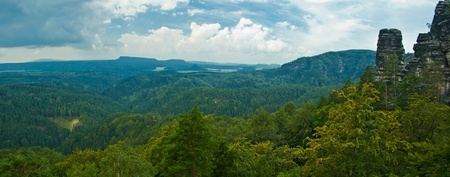 panoramatic view in czech mountains
