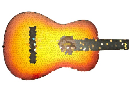 mosaic sketch of acoustic guitar Stock Photo - 11800284