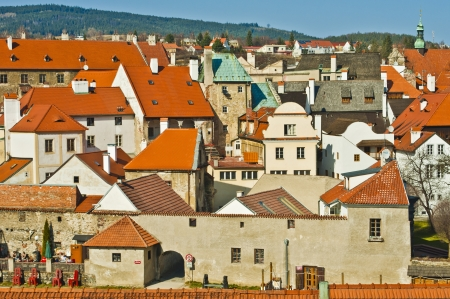 nice roofs in Cesky Krumlov photo