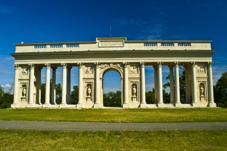 colonnade: old antique colonnade near Valtice