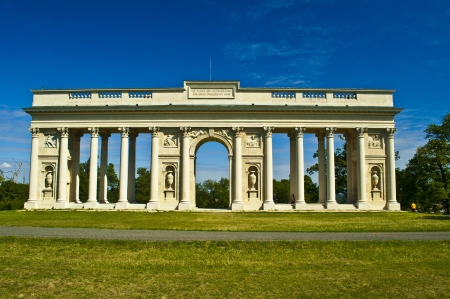 old antique colonnade near Valtice