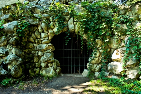 small cave from big stone Stock Photo - 17386308