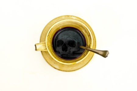 ceramic cup of death coffee photo