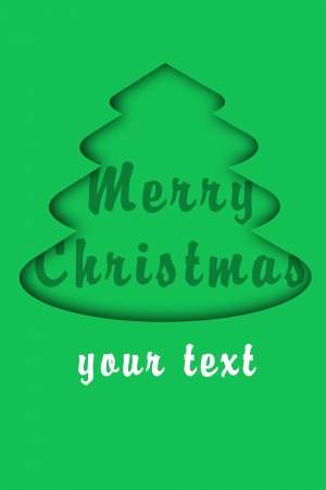 simple christmas card for your text photo