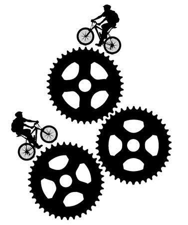 black and white bikers design photo