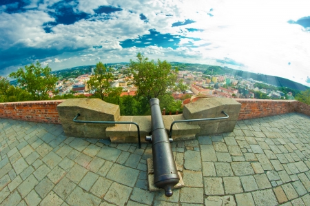 ramparts: cannon on top of ramparts