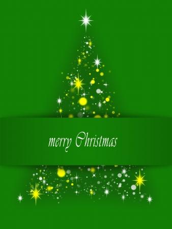 simple card with christmas tree symbol Stock Photo