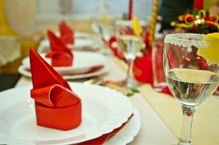 nice detail of festive table photo