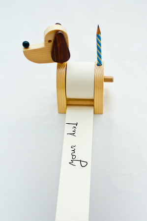 funny dog notepad with pencil photo