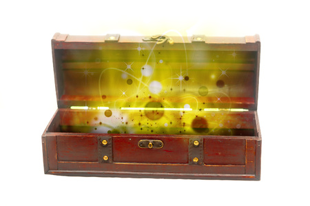 old chest full of gold photo