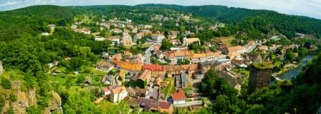 작은 역사적인 도시 wiev