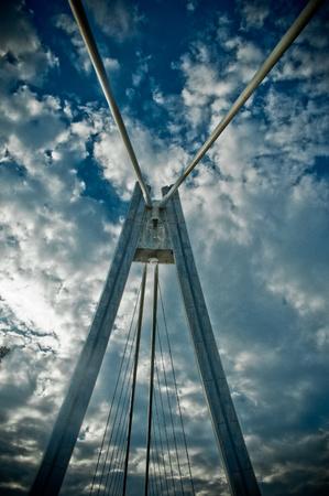 detail of modern bridge on sunny day Standard-Bild
