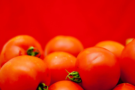detail of group red tomato