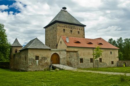 오래된 역사적인 성의 전망 에디토리얼