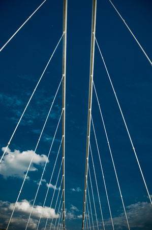 detail of modern bridge on sunny day Reklamní fotografie