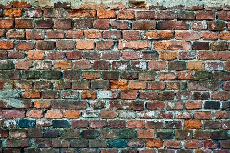 오래 된 벽돌 벽의 질감