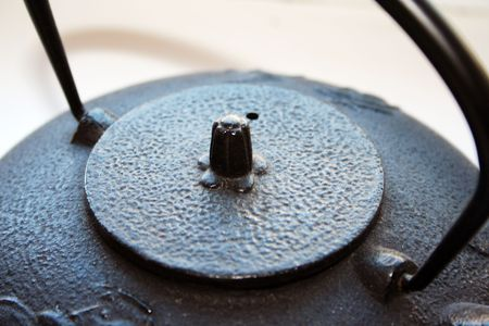Lid of a traditional Japanese teapot