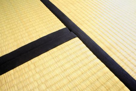 Three Tatami mats. Thick and heavy tatami mats like these, measuring each 90cm x 180cm traditionally cover the floor in Japanese houses. They are made from rice straw.