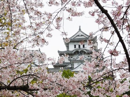 Himeji Castle near Kobe in Japan is probably the most beautiful and most famous of all Japanese Castles. As typical example of Japanese medieval castle architecture, ist was made part of world heritage by UNESCO.