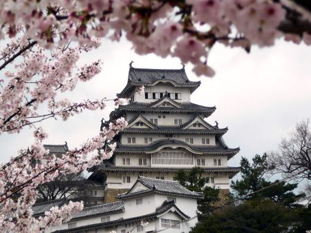 Himeji Castle is probably the most famous of all Japanese Castles. For its white colour, its also called