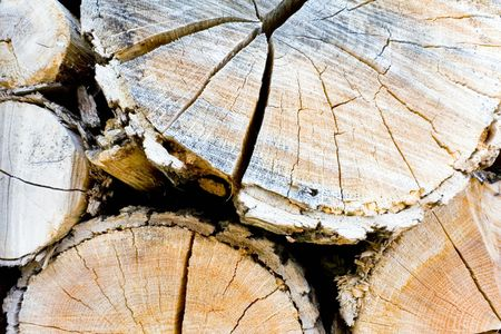 A stack of logs, to be used as firewood, dried from wind and sun. Stock Photo - 868582