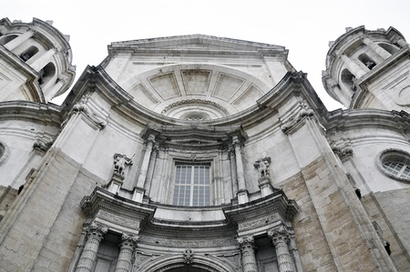 Cathedral of the city of Cadiz in Southern Spain.  photo