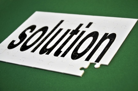 missing: Image illustrating the concept of one last missing piece of the solution.  Stock Photo