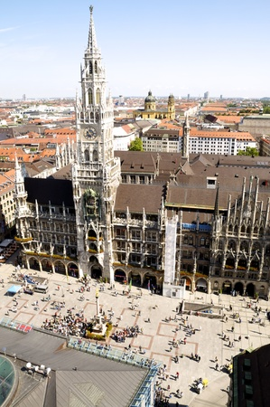 View from above at Munich Stock Photo