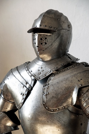 Closeup of a medieval knight photo