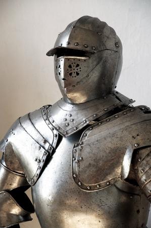 Nahaufnahme eines mittelalterlichen Ritters Standard-Bild