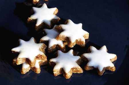 star shaped: Star Shaped Cinnamon Cookies are typical Christmas Pastry in Germany Stock Photo
