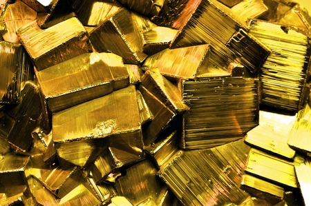 gold mine: Large Cluster of pyrite, also known as Fools Gold Stock Photo