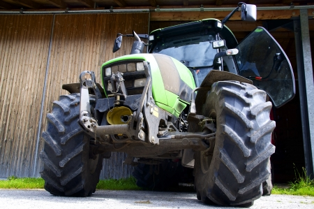 Modern Agricultural Tractor from below