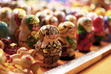 Beautiful, handpainted traditional Russian Matryoshka Dolls  photo